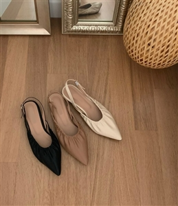 Bo Slingback Flats (Beige/Black/Ivory) (230~250) (will ship within 1~2 weeks)