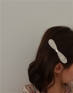 Pearl Ribbon Hair Pin - Made in Korea (will ship within 1~2 weeks later)