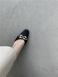 Best Mule 5cm Heels (Beige/Black) (230~250) (will ship within 1~2 weeks later)