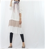 (Best; 2nd Reorder) Beige Pleated Layered Dress