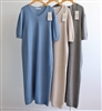 (Pre-Order) Cashmere WholeGarment Long Dress (Pink/Beige/Blue/Gray) (will ship within 1~2 weeks)