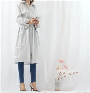 (Best; 2nd Reorder) Gray Vest and Shirt Dress Set