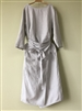 (Pre-Order) Grayish SkyBlue Linen Wrap Dress (will ship within 1~2 weeks)