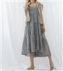 (Best; Back-Order; 2nd Reorder) Gray Summer Cancan Dress (안감있어서 비치지 않아요.) (will ship within 1~2 weeks)