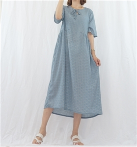 (Best; 2nd Reorder) Blue Print Dress