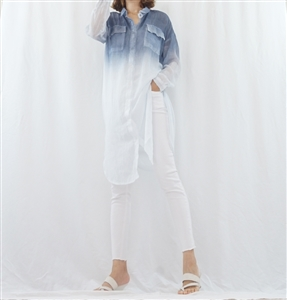 (Best; 2nd Reorder) Gradation Washing Shirt Dress