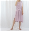 (Best; 2nd Reorder) Pink Linen Dress