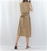 (Best; 2nd Reorder) Beige Linen Dress