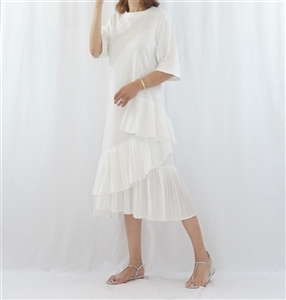(Best; 3rd Reorder) Ivory Ruffle Dress