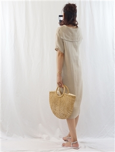 (Best; 2nd Reorder) Beige Collar Dress