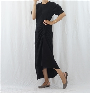 (Best; 2nd Reorder) Black String Linen Dress
