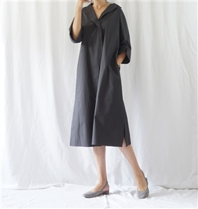 (Best; 3rd Reorder) Charcoal Unique Sleeve Dress