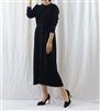 (Best; 2nd Reorder) Black Button Knit Dress