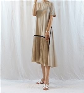 Theory Dress (Beige/Black) (will ship within 1~2 weeks)
