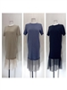 Mesh Layered Knit Dress (Beige/Black/Blue) (will ship within 1~2 weeks)