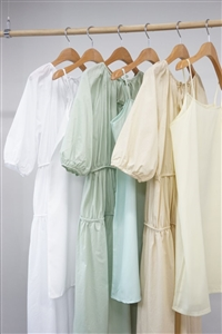 Goddess Set Dress (Ivory/Green/Beige) (will ship within 1~2 weeks)