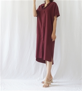 (Best) H Shirt Dress (Merona/PaleBlue/Burgundy/Beige) (will ship within 1~2 weeks)