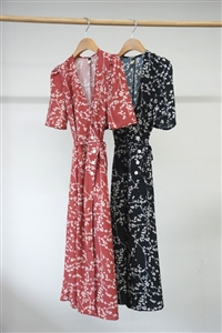 (Our Choice) Rou Dress (Pink Holly/Black Holly) (S/M) (will ship within 1~2 weeks)