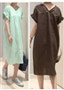 Dio Linen 100 Dress (Merona/ChocoBrown/FantaOrange) (will ship within 1~2 weeks)