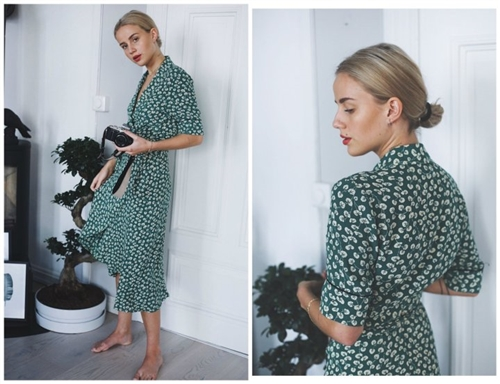 Green Robe Dress (S/M) (will ship within 1~2 weeks)