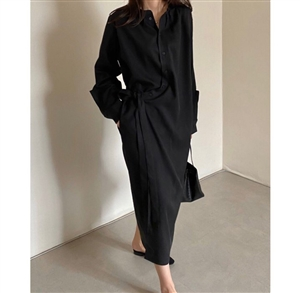 Lemaire Dress - Black (will ship within 1~2 weeks)