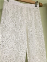 (Best; 2nd Reorder) White Lace Leggings