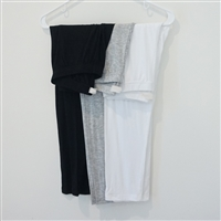 3/4 Length Leggings (White/Gray/Black)