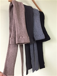 (Pre-Order) Line Knit Leggings (Beige/Charcoal/Gray/Black) (will ship within 1~2 weeks)