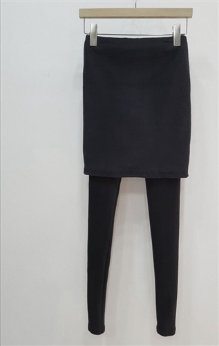 (Best; 2nd Reorder) Charcoal Pitch Skirt Leggings