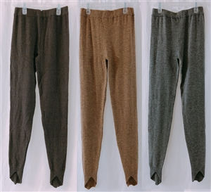 (Event; Final Sale) Cashmere Wool Leggings Brown + Beige + Gray Set 213