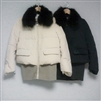 Navy Real Fox Fur & Knit 100% Down Padding
