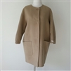 (2nd Reorder) Beige Cute Sleeve Wool 100 Handmade Coat