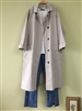 (Pre-Order) Grayish Beige Washing Cotton Trench Jacket (will ship within 1~2 weeks)