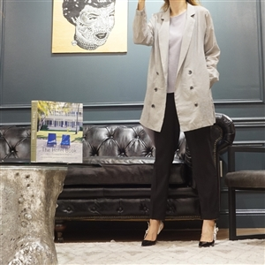 (Best; 3rd Reorder) Gray Double Button Summer Jacket
