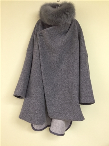 (Pre-Order) Gray Luxe Wool 80% Light Weight Coat (will ship within 1~2 weeks)