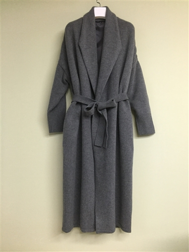(Pre-Order) Charcoal Cashmere + Merino Wool Knit Coat (will ship within 1~2 weeks)