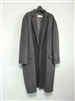 Charcoal Hand-Made Long Coat (wool 90%)