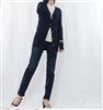 (Best; 3rd Reorder) Navy Mother of Pearl Button Line Cardigan