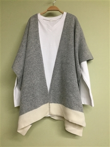 (Best; 2nd Reorder) Gray Shawl Cardigan
