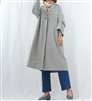 (Best; Back-Order; 2nd Reorder) Gray Unique Sleeve Long Jacket (will ship within 1~2 weeks)