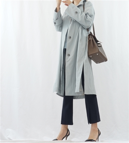 (Pre-Order) SkyBlue Must-Have Trench Coat (will ship within 1~2 weeks)