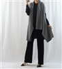 (Best; 2nd Reorder) Charcoal Lambswool Shawl Vest