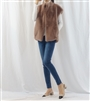 (Best; Back-Order; 3rd Reorder) Luxury Label Eco Fur Vest (LightGray/Mocha/Black/Ivory/Brown) (will ship within 1~2 weeks)