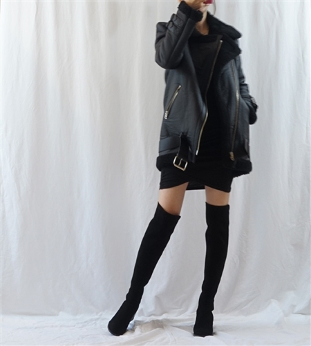 (Best; Back-Order) Acne Velocite Style Jacket (S/M) (Black/Beige/Ivory) (will ship within 1~2 weeks)