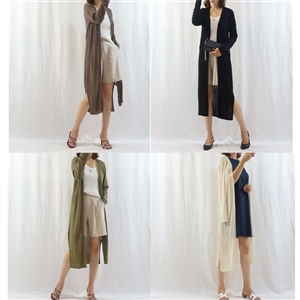 Summer Long Open Cardigan (Black/Ivory/Beige/Khaki/Brown/Pink) (will ship within 1~2 weeks)