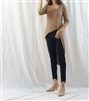 Beige Unbalanced Button Knit Cardigan Dress (will ship within 1~2 weeks)