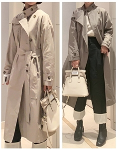 Bottega Trench Coat (Beige/Cocoa) (will ship within 1~2 weeks)
