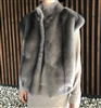 (New Color Added) Luxury Label Eco Fur Vest (Gray/Ivory/Beige/Brown) (will ship within 1~2 weeks)