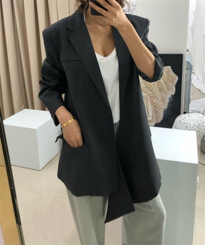 Balen Over Fit Unique Jacket (Black/Khaki) (will ship within 1~2 weeks)