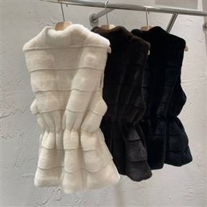 Eco Fur Vest (Black/Brown/Ivory) (will ship within 1~2 weeks)